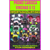 12 Vinchas Con Antenas Para Carnaval Carioca Surtidas