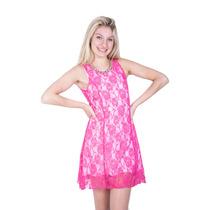 Vestido Encaje Corto Con Espalda Abierta En 5 Talles-axioma