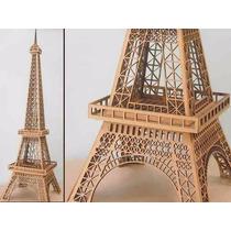 Torre Eiffel 40 Cm De Altura Fibrofacil Mdf Somos Fabrica !!