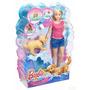 Muñeca Barbie Baña A Su Perrito Original Mattel Juguete Niña