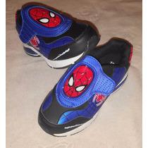Zapatillas Spiderman Araña Luz Disney Import Usa,v. Crespo