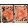 Chile Sello De Colón Con Sobrecarga Invertida Falso 1903