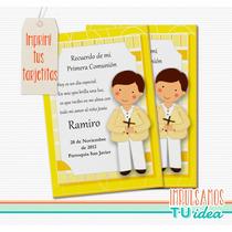 Comunión Varón - Estampita Para Imprimir Nenito Con Cruz