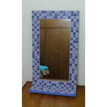 Espejo Venecitas 40x60 + Estante Decoracion Baño