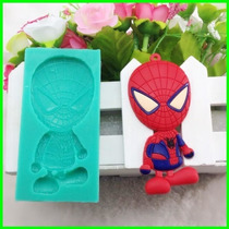 Molde Silicona Spiderman Araña Reposteria Fondant Porcelana