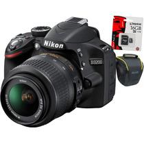 Nikon D3200 18-55,bolso+memo16gb Clas10.cuotas Sin Interés!!