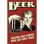 Carteles Antiguos Chapa Gruesa 20x30cm Cerveza Beer Dr-268