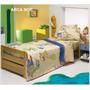 Sabanas Plata Infantil 1 1/2 Plazas 132 Hilos + 1 Funda