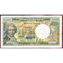 Billete Pacifico Frances 5000 Francos P.3g (2000-06)