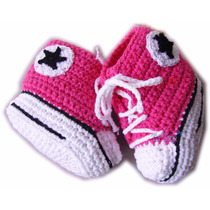 A Pedido Botitas Zapatillas Para Bebés Tejidas Al Crochet