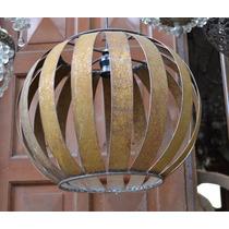 Lámpara Esfera Flejes P/colgar En Chapa De Hierro
