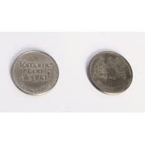 Antigua Ficha Las Tres Niñas Niquel Moneda