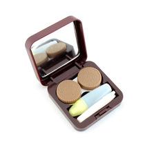 Porta Lentes De Contacto Chocolate Diseño Morph