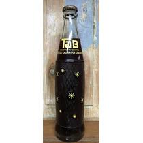 Antigua Botella De Gaseosa Tab Logo Amarillo Llena Con Chapa