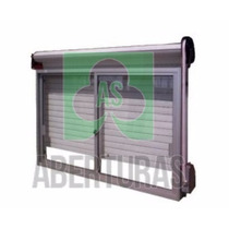 Aberturas: Ventana Aluminio Blanco 150x110 C/guia Y Cortina