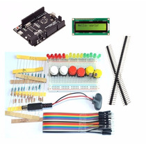Combo Kit Arduino Uno R3 + Lcd + Proto + Leds + Cables Etc