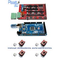 Kit Impresora 3d Arduino Mega 2560 Ramps 1.4 A4988 Pololu X4