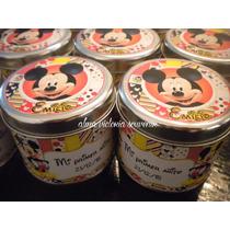 Souvenir Minnie Y Mickey Latas Personalizadas 7,5 X 8 Por 10