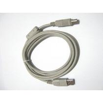 Cable Usb Impresora A/b 1.5 Mts.mallado Con Filtro Azul