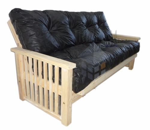 Sillon futon tailandes 3 cuerpos patas anchas colchon for Futon 2 plazas precio