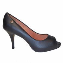 Zapato Mujer Boca De Pez Vizzano Sintetico Negro