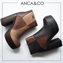 Botas Borcegos Anca Co Taco Alto Zapatos Abotinados Colores
