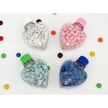 Envases De Corazones Con Tapa Plastico 50x$