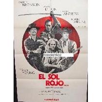Afiche El Sol Rojo Charles Bronson, Ursula Andress 1971