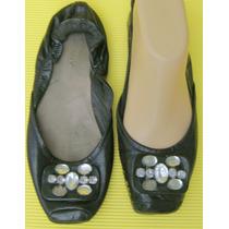 Sarkany Zapatos 37 Cuero Vacuno Negro Con Piedras (ana.mar)
