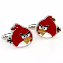 Gemelos Pájaro Rojo Enojado Angry Birds Geek Cuff Links