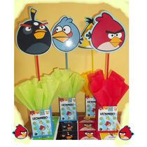 Centros De Mesa Angry Birds , Violeta,minion