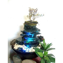 Fuente De Agua-cascada De Piedra Con Luces Led...daegroup