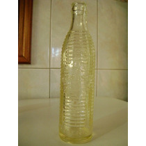Botella Antigua De Crush Labrada Transparente