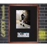 Acdc Angus Young Foto Firmada Y Entrada Recital 2010