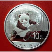 10 Yuan Moneda Onza De Plata Pura Panda 2014
