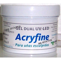4 Gel Dual Uv Led Construccion X 30 Gr Acryfine , En Flores