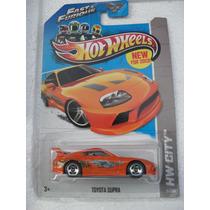 Auto Hot Wheels Rapidos Y Furiosos Supra Naranja, Blister