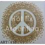 5 Planchas Peace Hotfix. Pedreria, Strass Termoadhesivos
