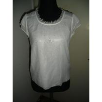 Blusa Seda Blanca Forrada Kly Talle L