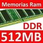 Memoria Ddr 512 Mb Pc 333/400 Garantia Microcentro Coyote