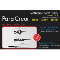 Maquinas Para Reloj Con Rosca 5mm- Ideal Reloj Cd