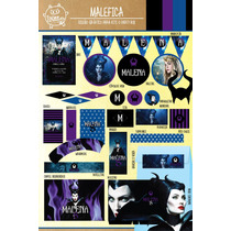 Kit Imprimible Malefica Disney Candy Bar Deco !