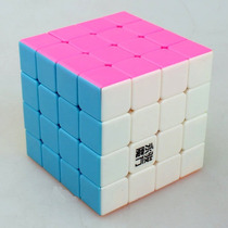 Cubo Rubik Yj Yusu 4x4x4 - Pink Stickerless - Speed - Orig.