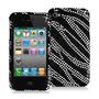 Funda Rigida Iphone 4/4s Con Brillos Animal Print Cebra