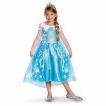 Disfraz Frozen Elsa Importado Disney Original Cap Mapache