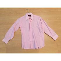 Camisa Varonil De Niño De Vestir Color Rosa Impecable