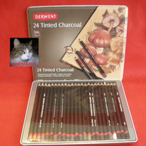 24 Lapices Carbonilla Color - Tinted Charcoal - Derwent