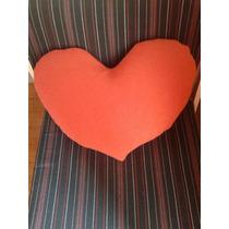 Almohadon Grande Corazón Tela Relleno Micro Perlas, Hermoso!