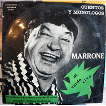 José Marrone Al Verde Vivo Cuentos Monólogos Disco Lp Vinilo