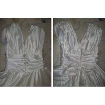 Vestido De Novia Tipo Romano Blanco Excelente Calidad
